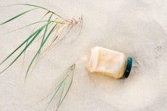 Pollution en plastique Images libres de droits