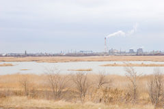 Pollution of the environment Stock Image