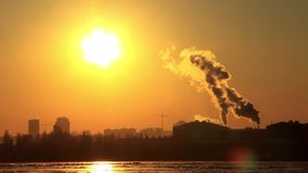 Pollution of the environment stock video footage