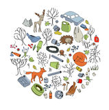 Pollution of the environment. Garbage and waste in forests Stock Images