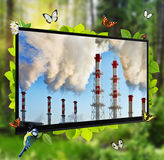 Pollution of the environment Royalty Free Stock Photos