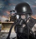 Pollution.Environmental καταστροφή. Μετα αποκαλυπτικός επιζών στο γ στοκ φωτογραφίες με δικαίωμα ελεύθερης χρήσης