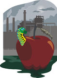 The pollution of the environmental stock illustration