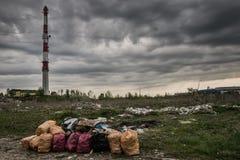 pollution environnementale écologique de photo de crise photographie stock libre de droits