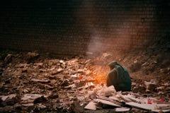 Pollution et pauvreté Photos libres de droits