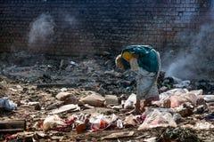 Pollution et pauvreté Image libre de droits