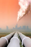Pollution from factory Royalty Free Stock Photos