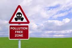Pollution Free Zone stock images