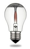 Pollution and greenhouse effect. Light bulb symbolizes polluting energy to cause the greenhouse effect.Clipping path included Royalty Free Stock Photography
