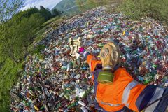 Special operation to clean up the river of debris royalty free stock photos