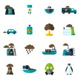 Pollution Icon Flat Stock Photos