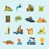 Pollution icon set Stock Photo