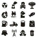 Pollution Icons Freehand Fill. This image is a illustration and can be scaled to any size without loss of resolution Stock Photography