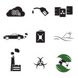Pollution icons Royalty Free Stock Photo