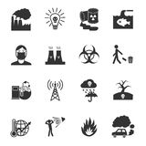 Pollution Icons Set Stock Images