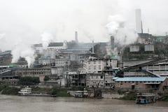 Chinese factory belching smoke Stock Photo