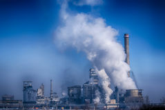 Pollution. Of industrial power plant Stock Images