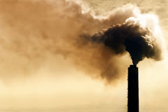 Pollution industrielle Image stock