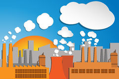 Pollution industrielle illustration stock