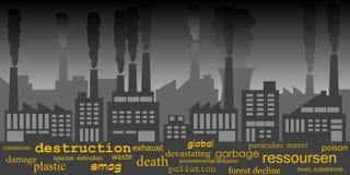 Pollution industrielle illustration stock