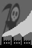 Pollution. Industries polluting the skies with toxic substances Royalty Free Stock Photography
