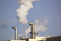 Pollution in the industry Stock Photos
