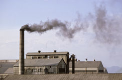 Pollution industry Stock Photography