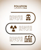 Pollution infographics design Royalty Free Stock Images