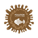Pollution infographics design Stock Image
