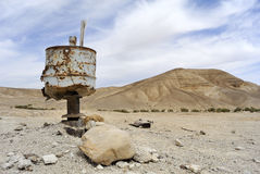 Pollution in Judea desert. Royalty Free Stock Image