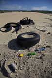 Pollution, litter and rubber Royalty Free Stock Photos