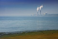 Pollution in Milwaukee Royalty Free Stock Images