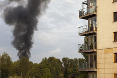 Pollution near residental settlement Royalty Free Stock Photos