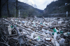 Pollution Of Plastic Bottles Stock Photography