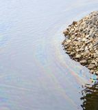 Pollution oil water Stock Photography