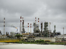 Pollution by old oil & gas refinery plant Stock Image