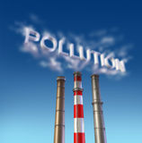 Pollution Poison smoke stack. Pollution and poison smoke stack with dirty chimney vector illustration