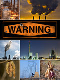 Pollution Poster Royalty Free Stock Image