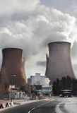Pollution from power station Stock Image