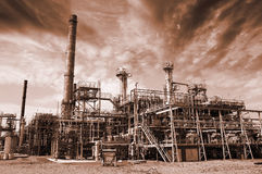 Pollution, refinery and fuel Stock Photos