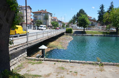 Pollution of River Drim, City of Struga,Macedonia Royalty Free Stock Photo