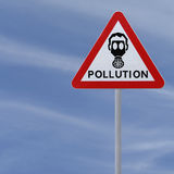 Pollution Road Sign Royalty Free Stock Photo