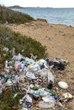 Pollution - Rubbish dumped on a beach - Cyprus Stock Photo