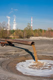 Pollution Sewage. Industrial sewage polluting natural environment Stock Photography