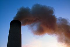 Pollution in sky Royalty Free Stock Images