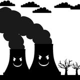 Pollution with smile Stock Photography