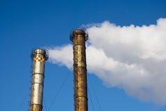 Pollution smoke stock photo