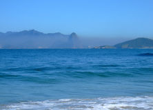 Pollution in Sugar Loaf. Rio de Janeiro seen by Itaipu beach in Niterói, Brazil Stock Images