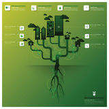 Pollution Tree And Root Infographic Design Template Royalty Free Stock Photography