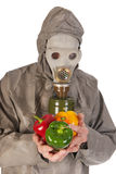 Pollution with vegetables Royalty Free Stock Image